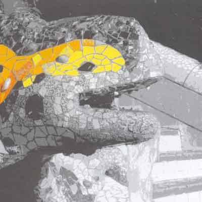 Parque Guell Barcelona Láminas en blanco y negro ritasmile mamagraf barcelona